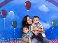 Baby & Bunch (Family Studio Photo)
